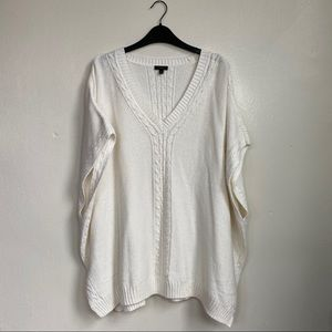 Talbots Cable Vneck Poncho Size S
